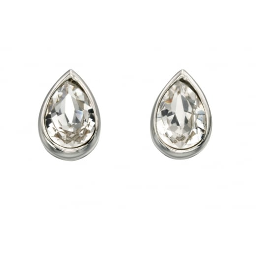 Cherubs Jewellery Pear Shaped Swarovski Crystal Teardrop Stud Earring