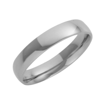 Platinum Court Shaped Wedding Ring 4mm