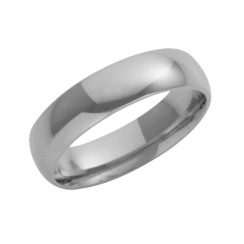 Platinum Court Shaped Wedding Ring 5mm
