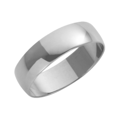 Platinum D-Shaped Wedding Ring 5mm