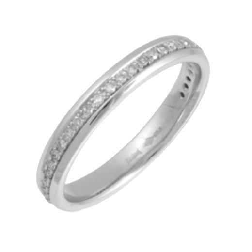 Cherubs Jewellery Platinum Diamond Set Wedding Ring 3mm .15ct