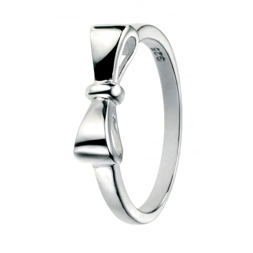 Cherubs Jewellery Polished Silver Bow Ring