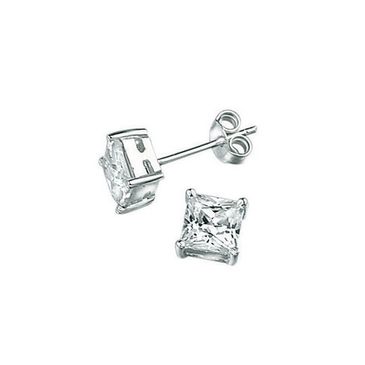 Cherubs Jewellery Princess Cut CZ Studs