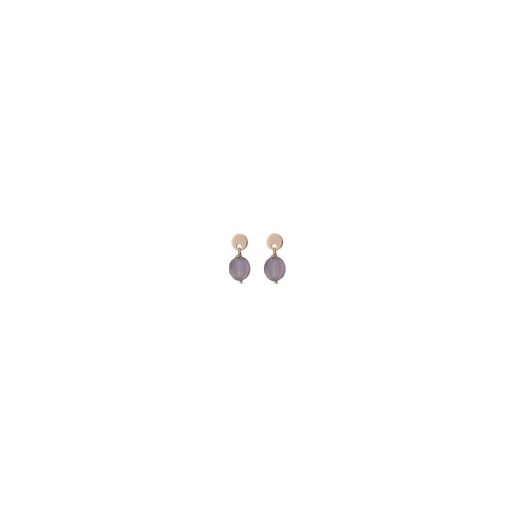 Cherubs Jewellery Rose Gold & Amethyst Earrings
