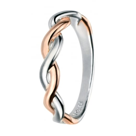 Cherubs Jewellery Rose Gold and Rhodium Fixed Twist Ring