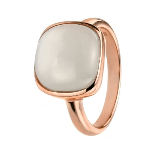 Cherubs Jewellery Rose Gold Plate Ring with Cabochon Moonstone