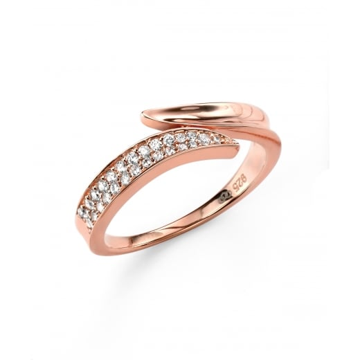 Cherubs Jewellery Rose Gold Plated Cubic Zirconia Wrap Ring