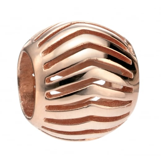 Cherubs Jewellery Rose Gold Plated Open Chevron Bead