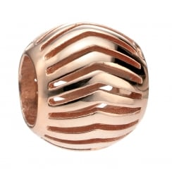 Rose Gold Plated Open Chevron Bead