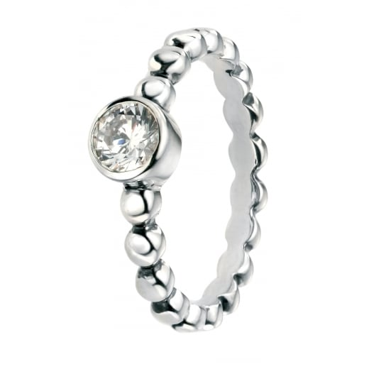 Cherubs Jewellery Round CZ Ring with Ball Shank