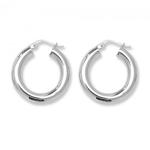 Cherubs Jewellery Silver 15mm Hoop Earrings