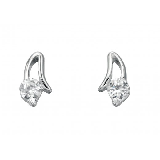 Cherubs Jewellery Silver Angel Earrings With CZ Stones