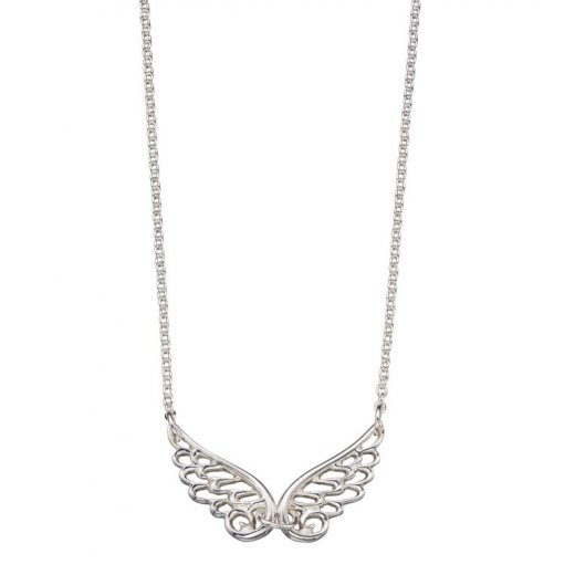 Cherubs Jewellery Silver Angel Wing Pendant on a 36-40cm adjustable chain