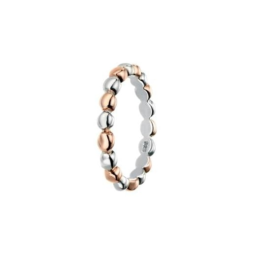 Cherubs Jewellery Silver Ball Band with Rose Gold Detail