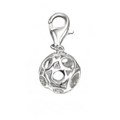 Silver Ball Charm With Clasp