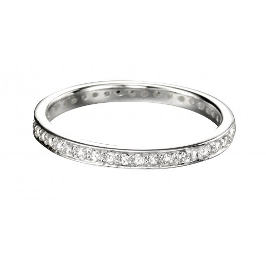 Cherubs Jewellery Silver Band With CZ