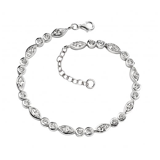 Cherubs Jewellery Silver Cubic Zirconia Ashley Bracelet