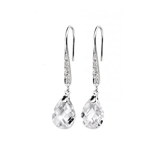 Cherubs Jewellery Silver Cubic Zirconia Lolita Earrings On french Hook
