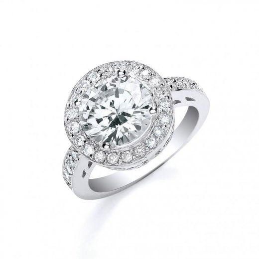 Cherubs Jewellery Silver CZ Pave Ring