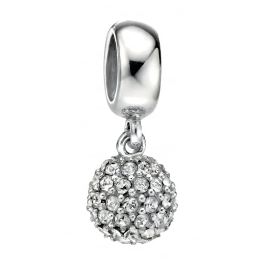 Cherubs Jewellery Silver Drop Swarovski Crystal Bead