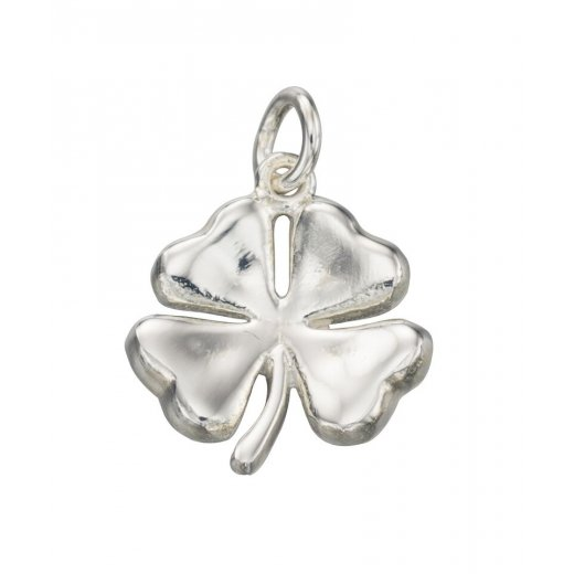 Cherubs Jewellery Silver four leaf clover necklace with 42-45cm adjustable chain