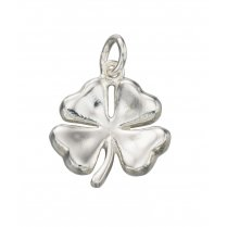 Silver four leaf clover necklace with 42-45cm adjustable chain