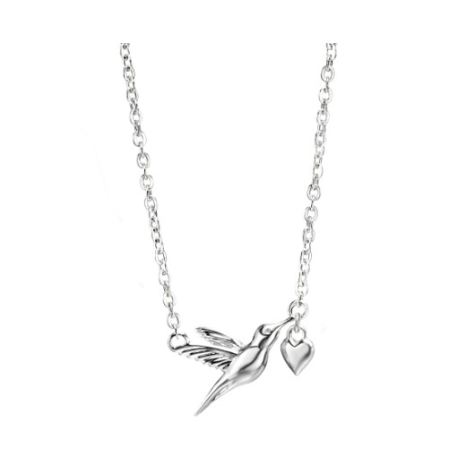 Cherubs Jewellery Silver Hummingbird Pendant With Adjustable Chain 45-50cm