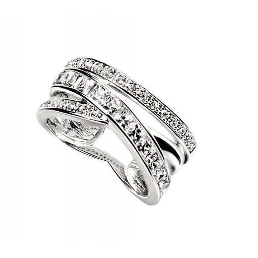 Cherubs Jewellery Silver Isla Ring Set With CZ Stones