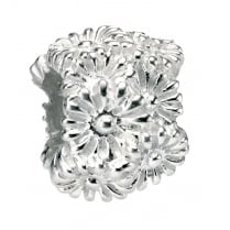 Silver Mixed Flower Bead