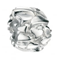 Silver Multi Heart Bead