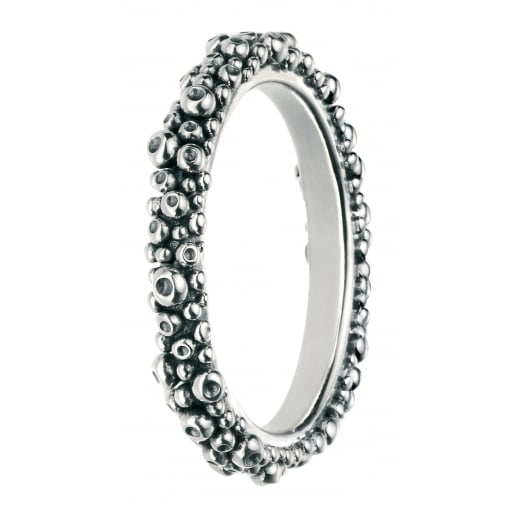 Cherubs Jewellery Silver Oxidised Bubble Ring