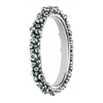 Silver Oxidised Bubble Ring