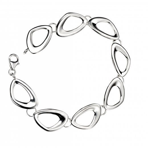 Cherubs Jewellery Silver Pebble Link Bracelet