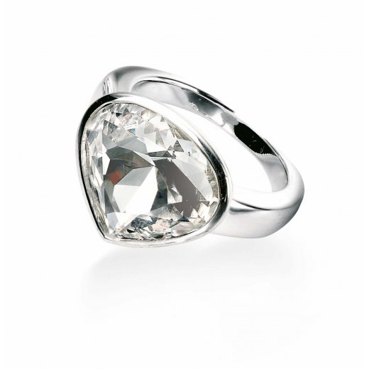 Cherubs Jewellery Silver Swarovski Crystal Element Ring