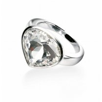 Silver Swarovski Crystal Element Ring