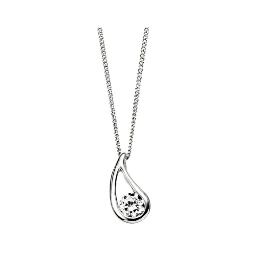Cherubs Jewellery Silver Talula Pendant Set With Cubic Zirconia & Adjustable Chain