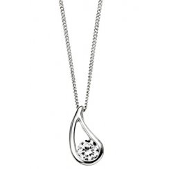 Silver Talula Pendant Set With Cubic Zirconia & Adjustable Chain
