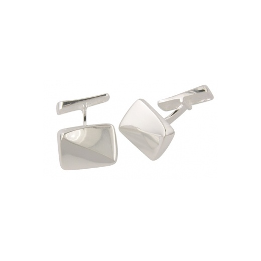 Cherubs Jewellery Silver Twist Cufflinks With Easy To Use Bar Fitting