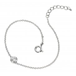 Small CZ Silver Adjustable Maya Bracelet