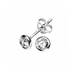 Small Silver Maya Earrings Set With CZ