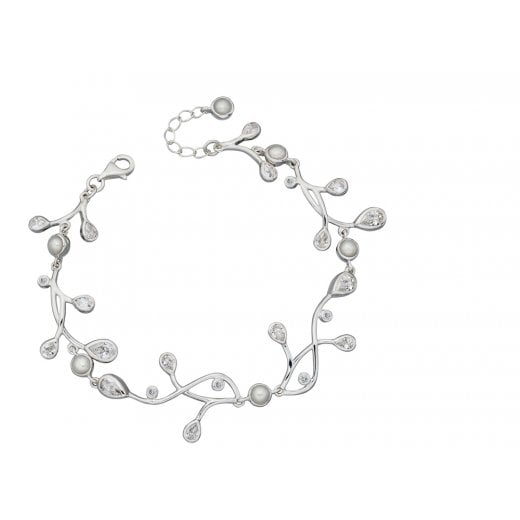Cherubs Jewellery Statement Pearl & CZ Bracelet