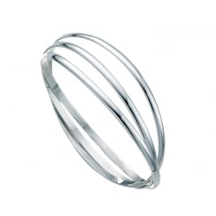 Sterling Silver Russian Three Strand Bangle