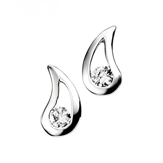 Cherubs Jewellery Teardrop Stud Earrings With Cubic Zirconia