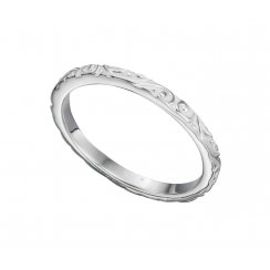 Textured Silver petterened band