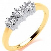 Three Stone Diamond Ring .50ct