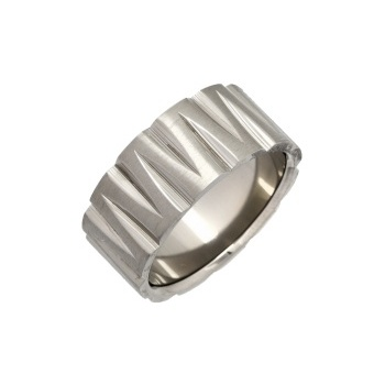 Cherubs Jewellery Titanium Zig Zag Design Ring 10mm
