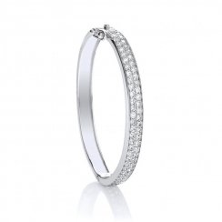 Two Row Cubic Zirconia Baby Bangle
