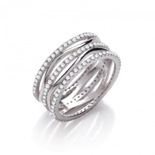Cherubs Jewellery Wavy and Straight CZ Ring Full Set