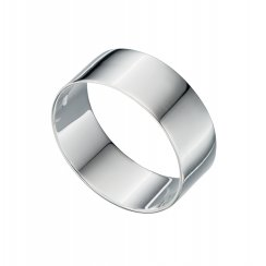 Wide Flat Silver Ring