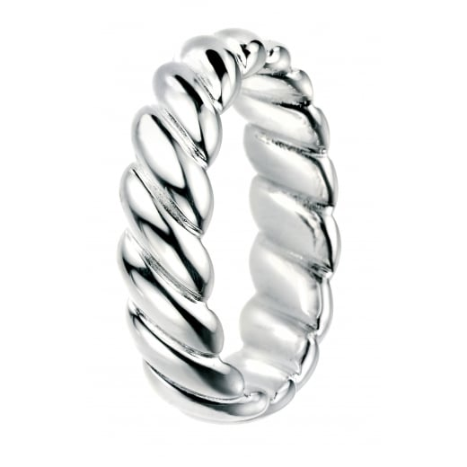 Cherubs Jewellery Wide Sterling Silver Twisted Band